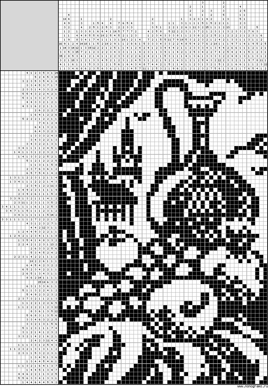 Филейное вязание для картин 253